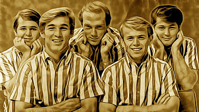 Music Mixed Media - The Beach Boys Collection by Marvin Blaine