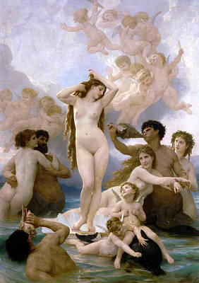Classical Realism Painting - The Birth Of Venus by William-Adolphe Bouguereau