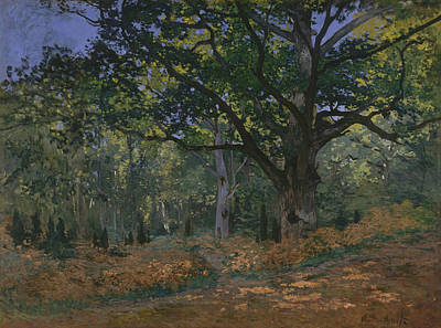 Fontainebleau Painting - The Bodmer Oak, Fontainebleau Forest by Claude Monet