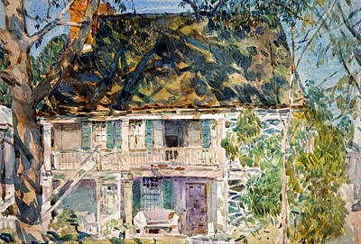 Drawing - The Brush House by Childe Hassam