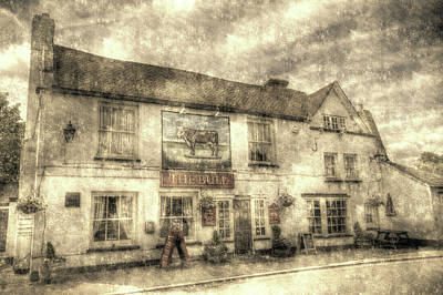 Photograph - The Bull Pub Theydon Bois Vintage by David Pyatt