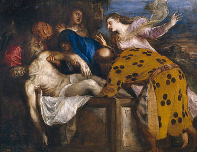 Venetian Painting - The Burial Of Christ by Titian