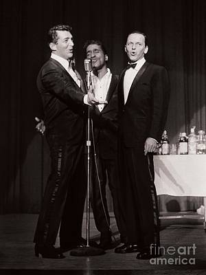 Frank Sinatra Photograph - The Cast Of Ocean's 11 And Members Of The Rat Pack by The Titanic Project