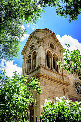 The Cathedral Basilica Of St Francis Of Assisi - Santa Fe - New Mexico Art Print by Jon Berghoff