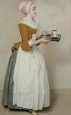 Pastel - The Chocolate Girl by Jean-Etienne Liotard
