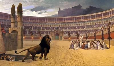 Stadium Crowd Painting - The Christian Martyrs' Last Prayer by David Mark