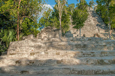 Digital Art - The Church At Grupo Coba At The Coba Ruins  by Carol Ailles