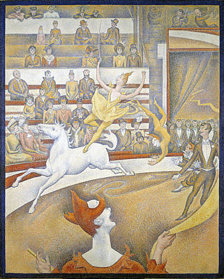 Georges Seurat Painting - The Circus by Georges Seurat