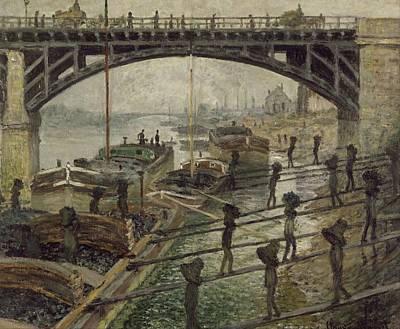 The Coalmen Print by Claude Monet