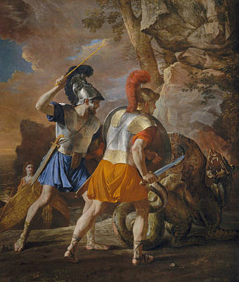 Nicolas Poussin Painting - The Companions Of Rinaldo by Nicolas Poussin