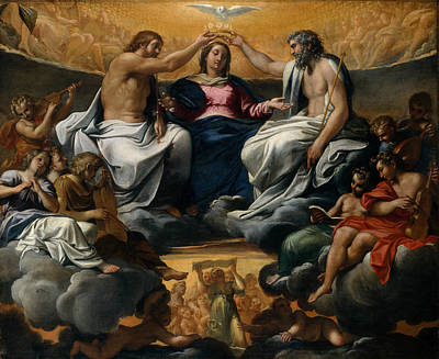 Painting - The Coronation Of The Virgin by Annibale Carracci
