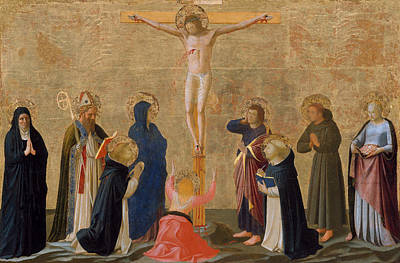 Crucify Painting - The Crucifixion by Fra Angelico