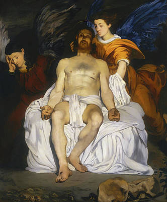 Painting - The Dead Christ With Angels by Edouard Manet