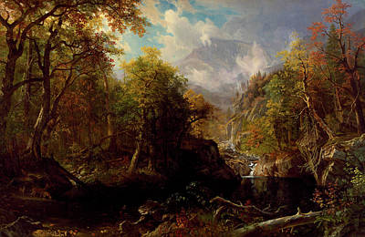 Looking Down Painting - The Emerald Pool by Albert Bierstadt