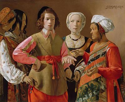 Old Painting - The Fortune Teller by Georges de La Tour