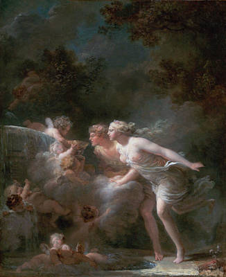 Novel Painting - The Fountain Of Love by Jean-Honore Fragonard