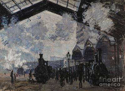 Painting - The Gare St Lazare by Claude Monet