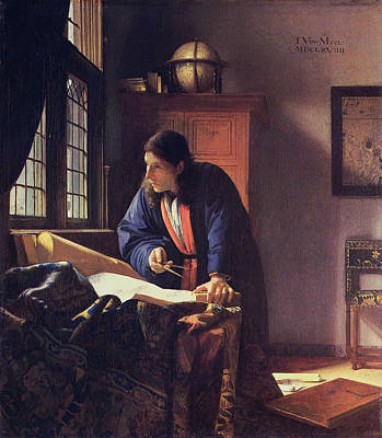Painting - The Geographer by Johannes Vermeer