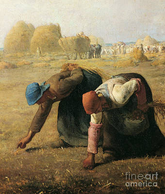 Harvest Time Painting - The Gleaners by Jean Francois Millet