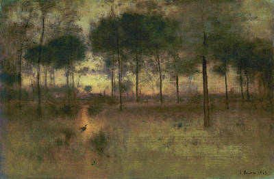 Hudson River School Painting - The Home Of The Heron by George Inness