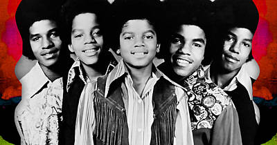 The Jackson 5 Collection Art Print by Marvin Blaine