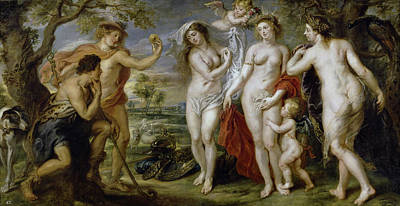 Paris Painting - The Judgment Of Paris by Peter Paul Rubens