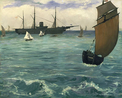 Painting - The Kearsarge At Boulogne by Edouard Manet