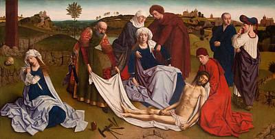 Wept Painting - The Lamentation by Petrus Christus