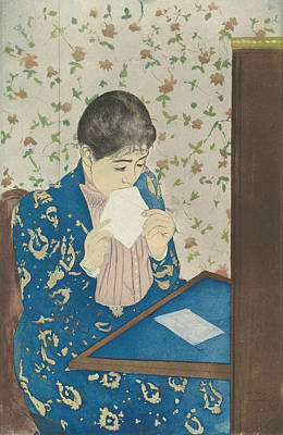 Relief - The Letter by Mary Cassatt