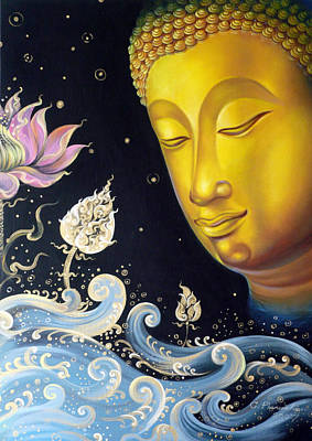 Buddah Painting - The Light Of Buddhism by Chonkhet Phanwichien
