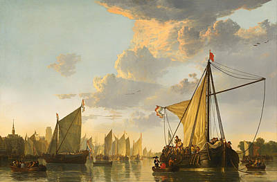 Netherlands Painting - The Maas At Dordrecht by Mountain Dreams