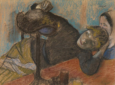 Drawing - The Milliner by Edgar Degas