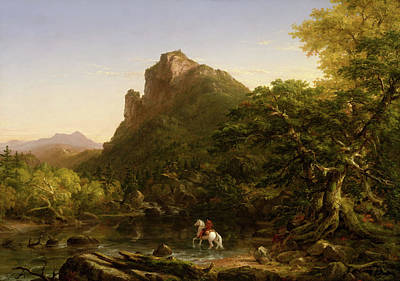 Painting - The Mountain Ford by Thomas Cole