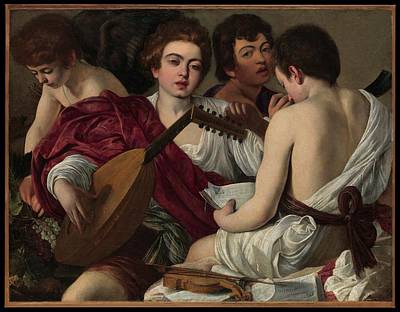Musicians Royalty Free Images - The Musicians Royalty-Free Image by Caravaggio