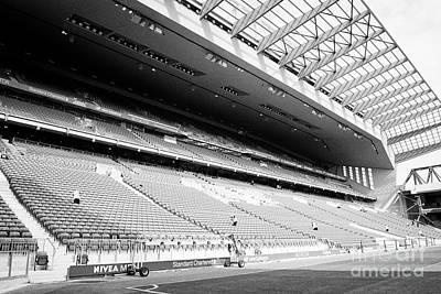 The New Main Stand At Liverpool Fc Anfield Stadium Liverpool Merseyside Uk Art Print by Joe Fox