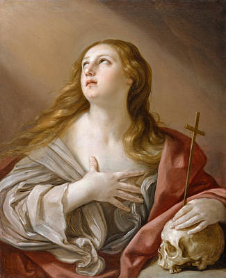 Painting - The Penitent Magdalene by Guido Reni