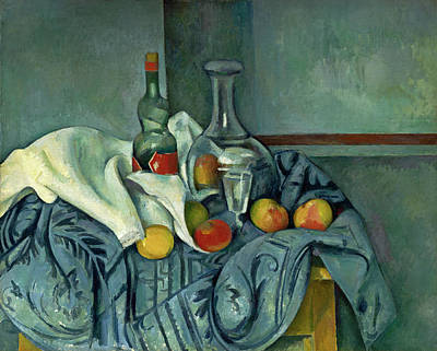 Painting - The Peppermint Bottle by Paul Cezanne