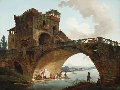Painting - The Ponte Salario by Hubert Robert