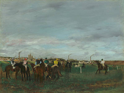 Painting - The Races by Edgar Degas