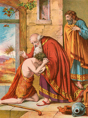 Forgive Painting - The Return Of The Prodigal Son by English School