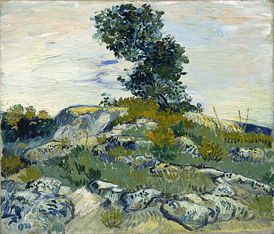 Woods Painting - The Rocks by Vincent van Gogh