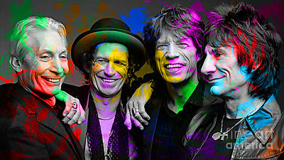 Digital Art - The Rolling Stones by Marvin Blaine