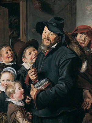 Painting - The Rommel-pot Player by Frans Hals