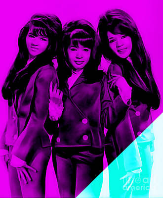 Girls Mixed Media - The Ronettes Collection by Marvin Blaine