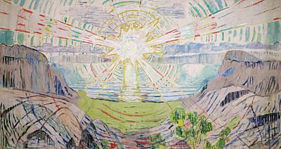 The Sun Art Print by Edvard Munch