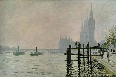 The Thames Below Westminster Art Print by Claude Monet