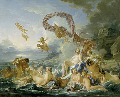 Naiad Painting - The Triumph Of Venus by Francois Boucher