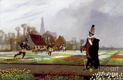 Gerome Painting - The Tulip Folly by Celestial Images