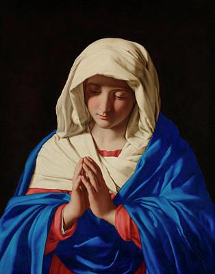 Sassoferrato Painting - The Virgin In Prayer by Sassoferrato