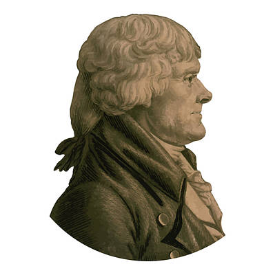 Thomas Jefferson Profile Art Print